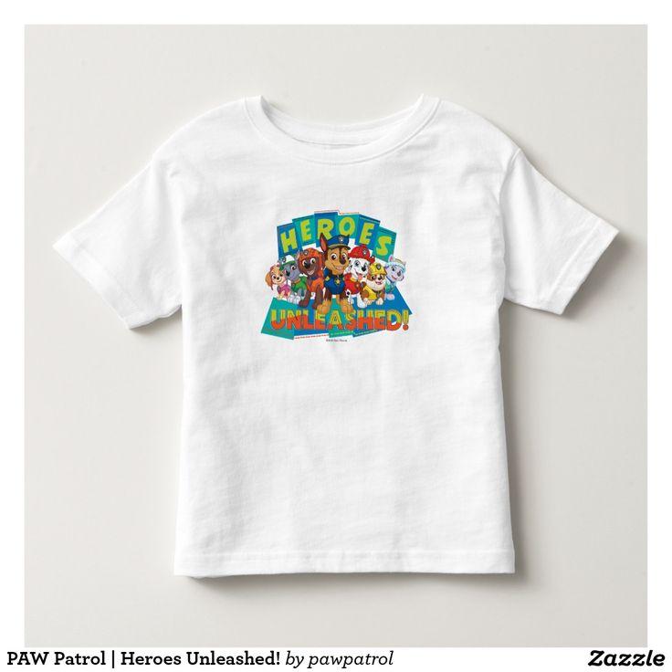 PAW Patrol | Heroes Unleashed! Puppy, dog lover. Baby, bebé. Producto disponible en tienda Zazzle. Vestuario, moda. Product available in Zazzle store. Fashion wardrobe. Regalos, Gifts. #camiseta #tshirt