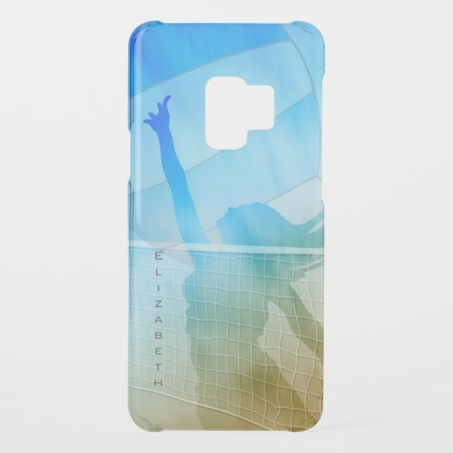 Sand Surf And Sky Women S Beach Volleyball Uncommon Samsung Galaxy Case Zazzle Com Beach Volleyball Volleyball Surfing