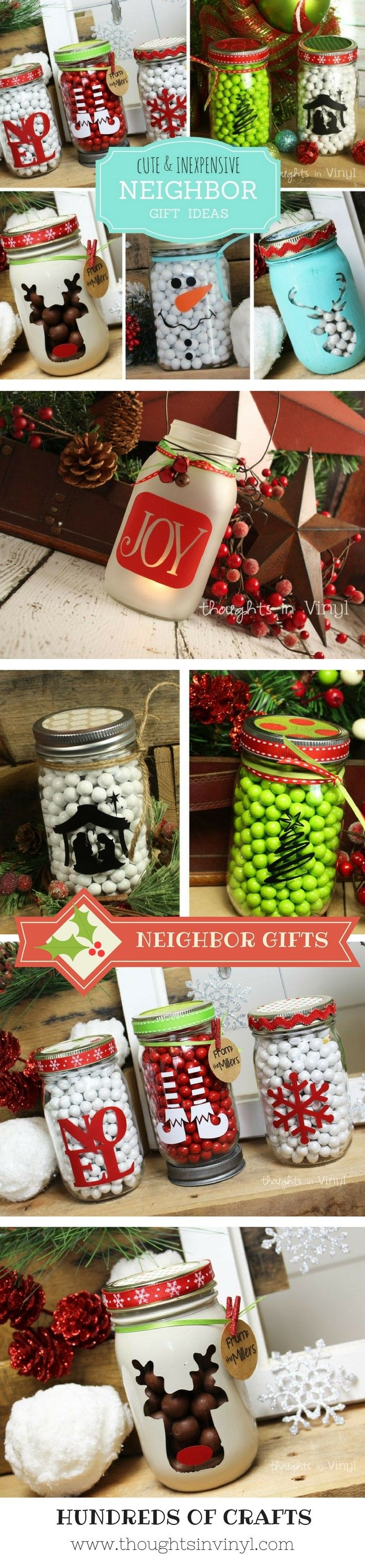 Christmas Neighbor gifts!  Perfect for a friend or teacher.  Only $2