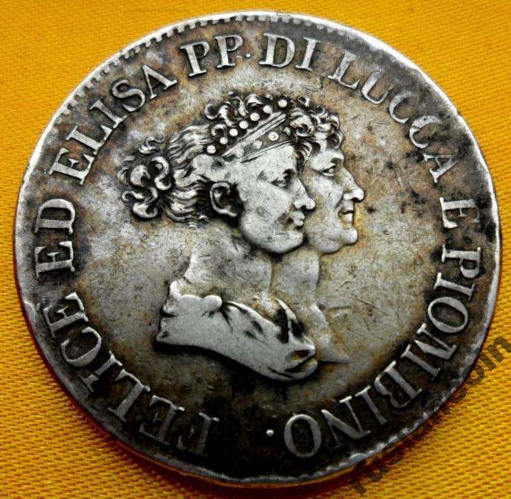 ЛУККА Пиомбино 5 Франчи Феличе Элиза 1805 СЕРЕБРО 5 franchi Luca + Piombino