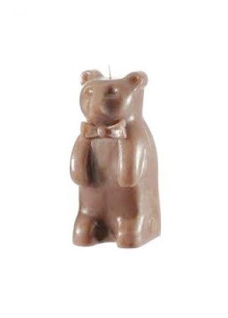 candela forma di orsetto marrone