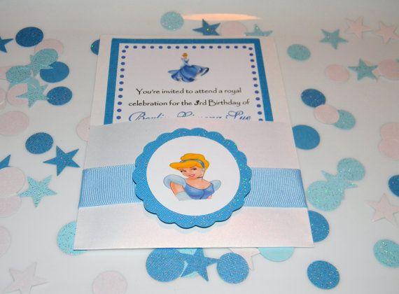 Cinderella Birthday  Party Invitations by YourPartyShoppe on Etsy, $24.50