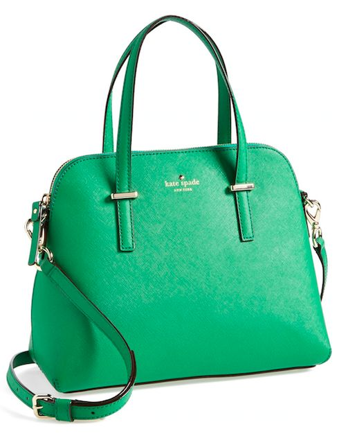 Kate Spade Cedar Street Maise Bag In Snap Pea Green would be great on,,,,,,,,#NationalHandbagDay