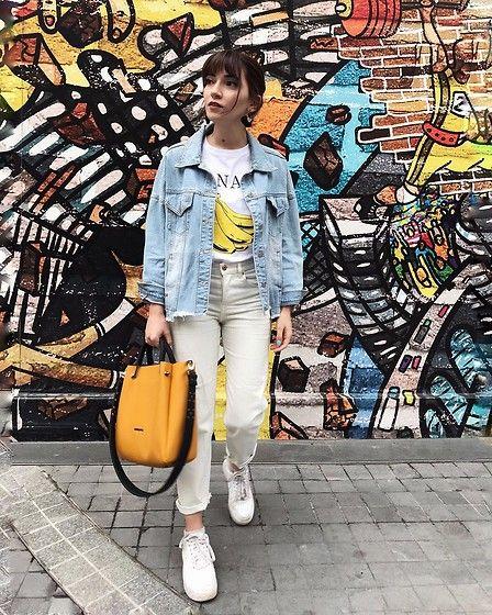 Melike Gül - H M Jeans, Nike Sneakers, Romwe T Shirt - BANANA ... f1a23fcdcf20
