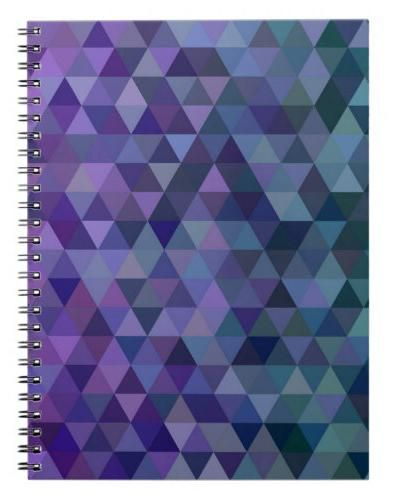 Triangle tiles spiral notebook