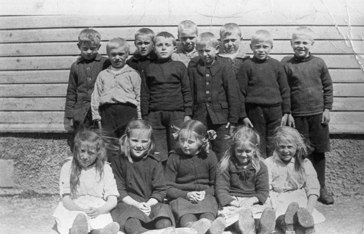 1.klasse ved Lunde 1922