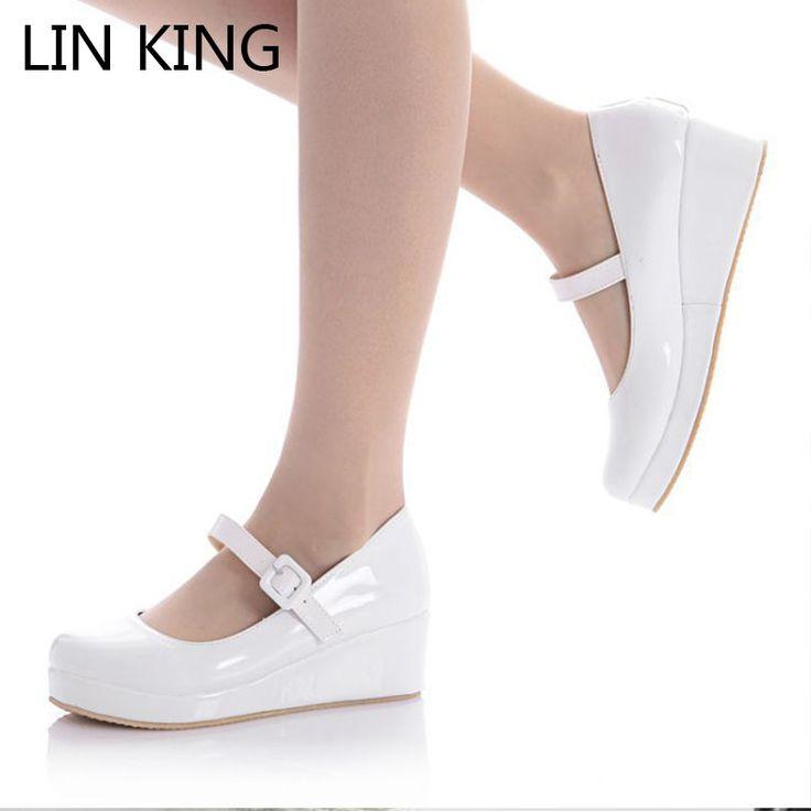 $9.79 (Buy here: https://alitems.com/g/1e8d114494ebda23ff8b16525dc3e8/?i=5&ulp=https%3A%2F%2Fwww.aliexpress.com%2Fitem%2FDanganronpa-Nanami-Chiaki-Anime-Cosplay-shoes-Lolita-Sweet-Lady-wedge-Shoes-Round-Toe-Buckle-Women-Party%2F32299447023.html ) LIN KING Danganronpa Nanami Chiaki Anime Cosplay Shoes Lolita Sweet Lady wedge Shoes Round Toe Buckle Women Pumps Plus Size 43 for just $9.79