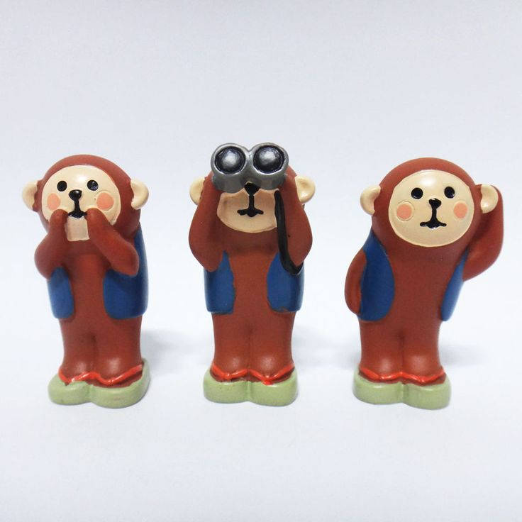 Concombre DECOLE Japan Cute Lovely Kawaii Figure Three Monkeys Set #ConcombrebyDECOLE