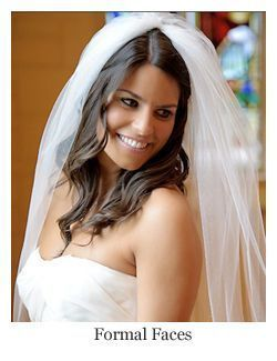 Classic bridal hairstyle long wavy half up half down. ~ Hair by Formal Faces – A Hair Comes t