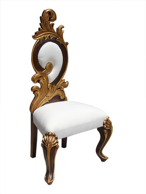 Glorious  Barouqe Style Chair. Indonesian #HandmadeFurniture from solid Mahogany wood by #sokokayu