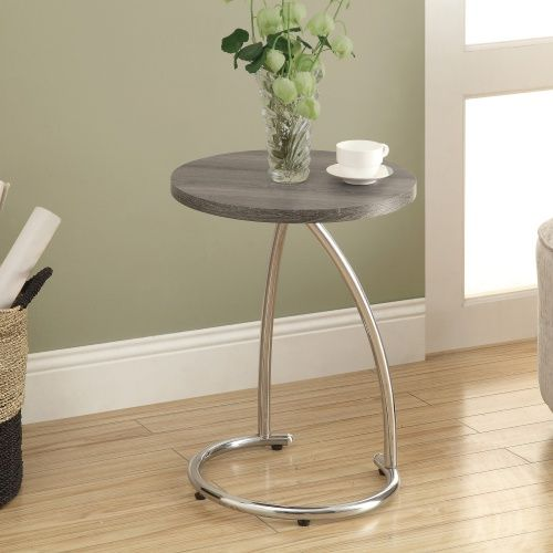 Monarch I 32 23 in. Reclaimed-Look Metal Accent Table