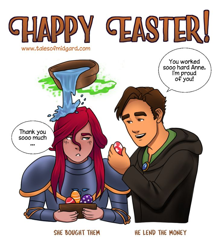 The 2017 Easter bonus image from Tales of Midgard!