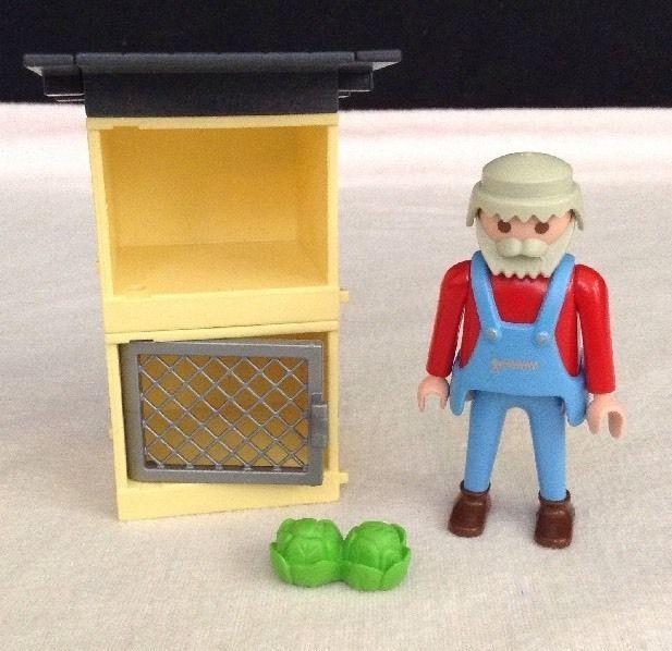 REPLACEMENT Playmobil # 4491 RABBIT HUTCH & FARMER Pieces / Parts #PLAYMOBIL