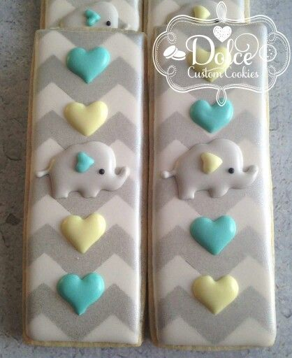 Dolce:  Elephant cookie sticks.  Too cute!