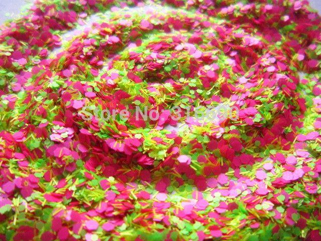 Устойчивы к воздействию растворителей блеск смесь розовый, Зеленый и желтый с шестигранной сырье ногтей блеск смесь для лак для ногтей и ногтей