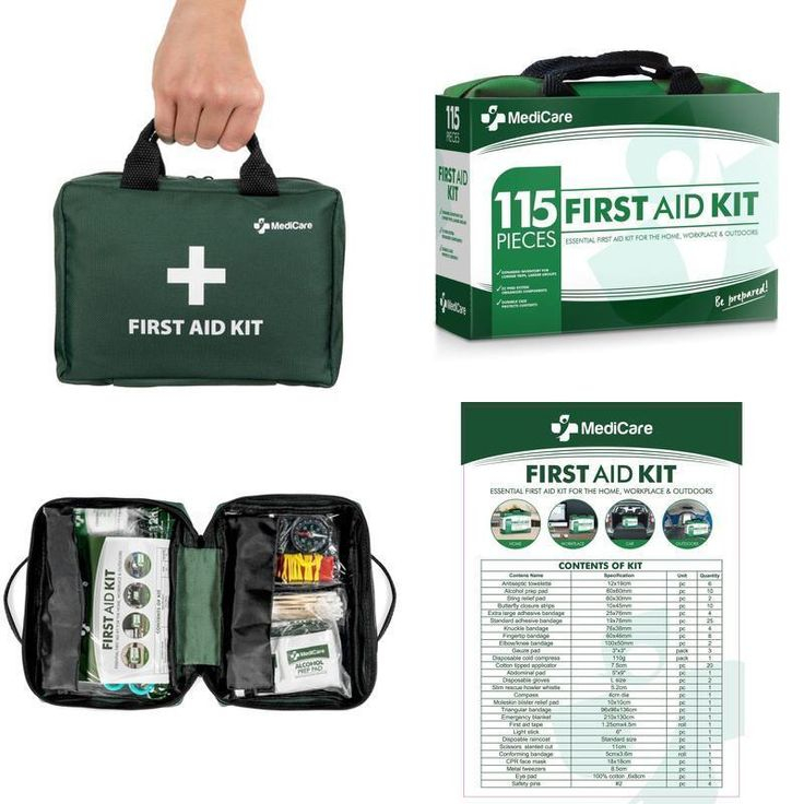 MediCare Deluxe First Aid Kit (115 Items) The Most Essential First Aid Supplies  #MediKit