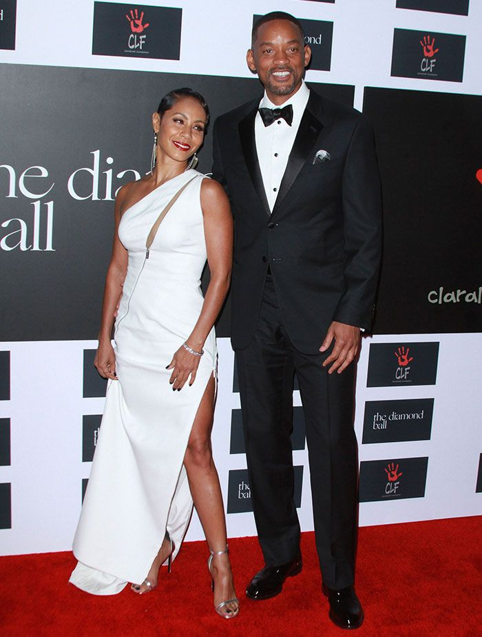 Jada Pinkett Smith Defines Classic Elegance in White Zuhair Murad Dress and Saint Laurent 'Jane' Heels at Annual Diamond Ball