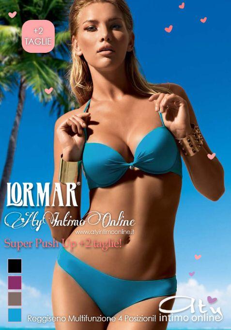 Ed è tempo di presentare anche il costume da bagno Super Push Up +2 taglie Sfera di Lormar! In negozio lo potrete trovare nelle nuovissime nuance moda 2016 del Nero, del Laguna, del Sacher e del Mosto. Un decolletè esplosivo anche in spiaggia con la qualità dei costumi mare Lormar! #moda #mare #bikini #estate2016 #superpushup #costumi http://www.atyintimoonline.it/intimo-lormar/3846-costume-da-bagno-bikini-super-push-up-double-lormar-con-brasiliana.html