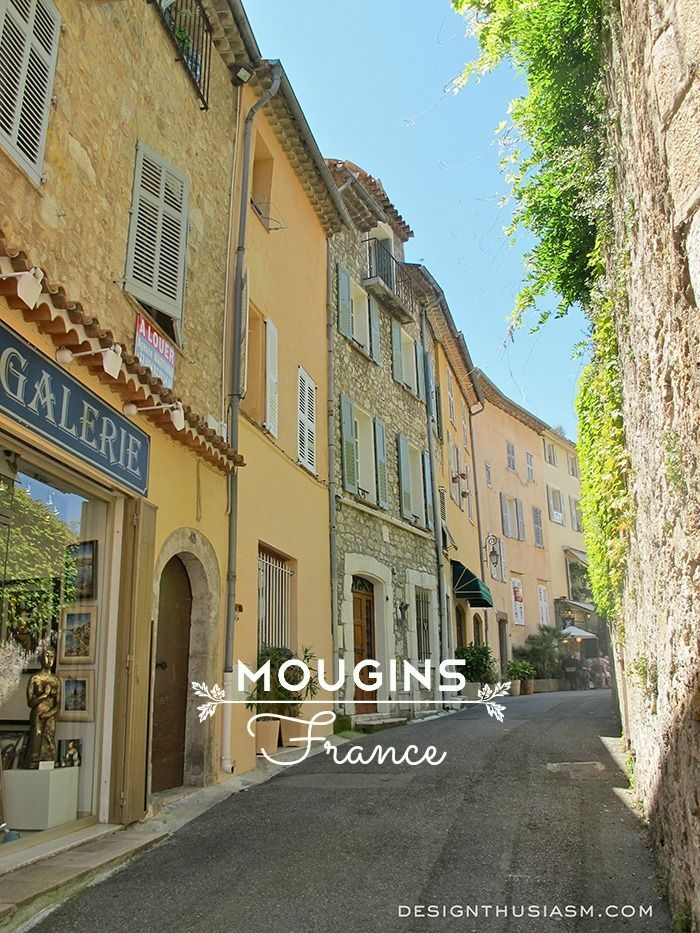 A morning visit to the charming hilltop village of MOUGIN, FRANCE | photos: Designthusiasm.com #travel #france #mougins