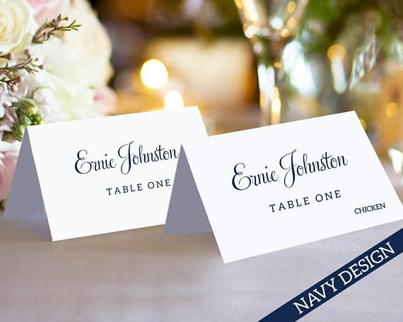 Best Place Card Templates Images On Pinterest - Folded place cards template