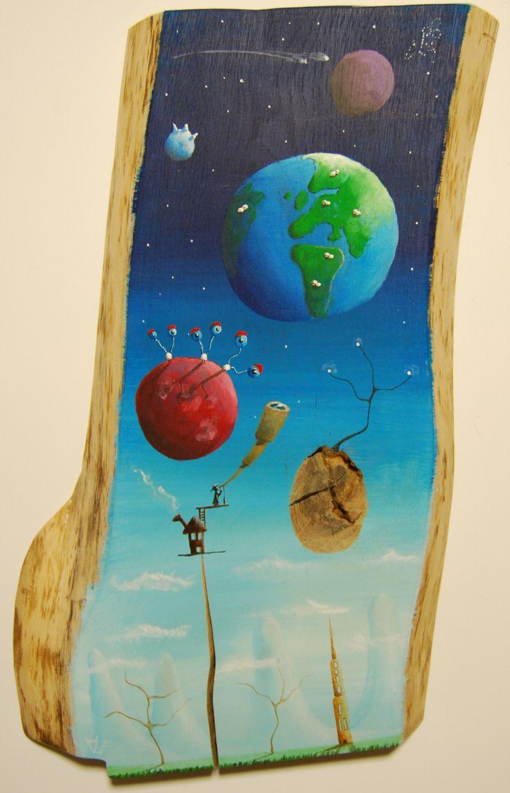 """""""me 19"""" Paweł Widera original paintings, acrylic on wood"""