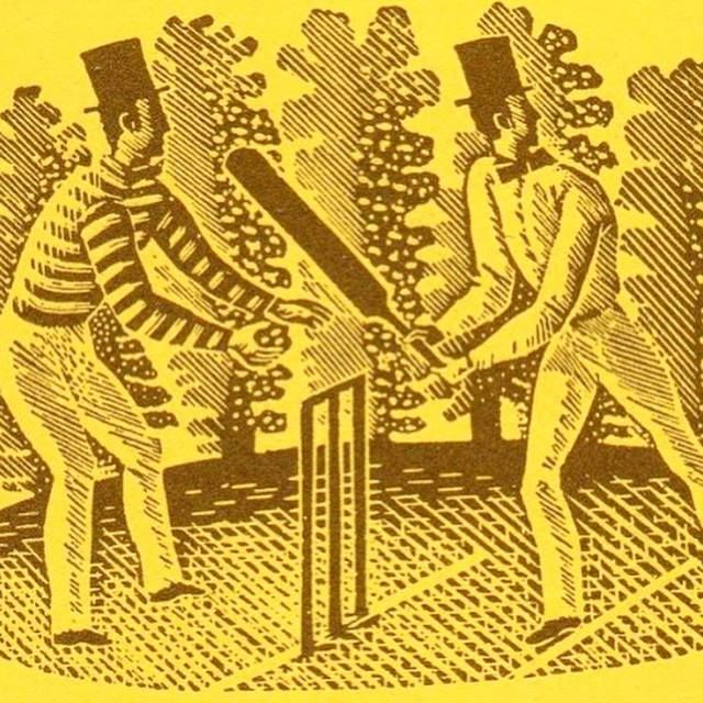 """""""Cricket"""" by Eric Ravilious. A wood engraving still used today by Wisden"""
