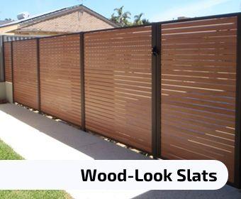 horizontal aluminium fence - Google Search