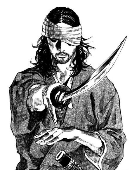 Miyamoto Musashi from the Vagabond manga, chapter 191.