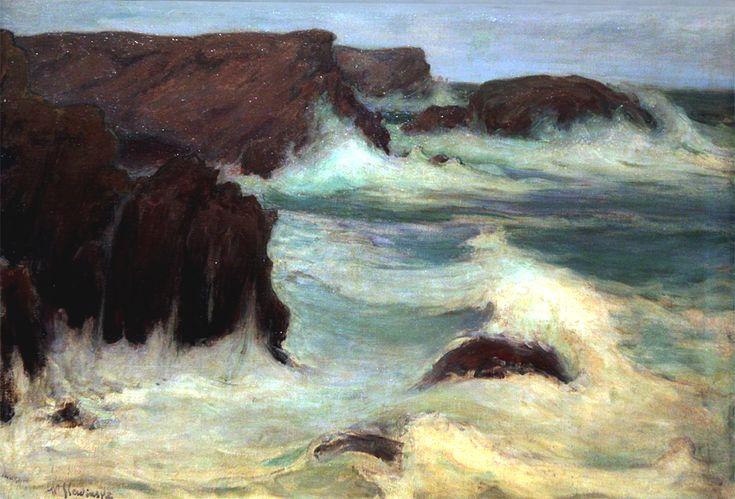 Władysław Ślewiński Morze w Bretanii, 1904, MNK