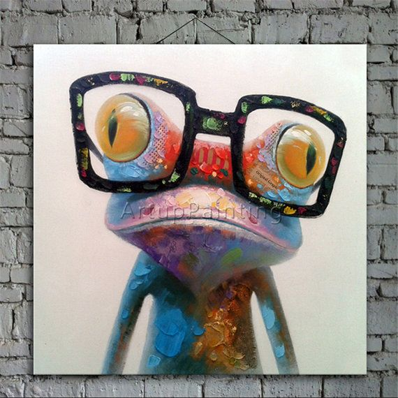 ► Item Detail    1) Product: Pop Art Animal Funny Art Glasses Frog  2) Size and Price:   20x 20 (Unframed)* - $ 59   24x 24 (Unframed)* - $ 89