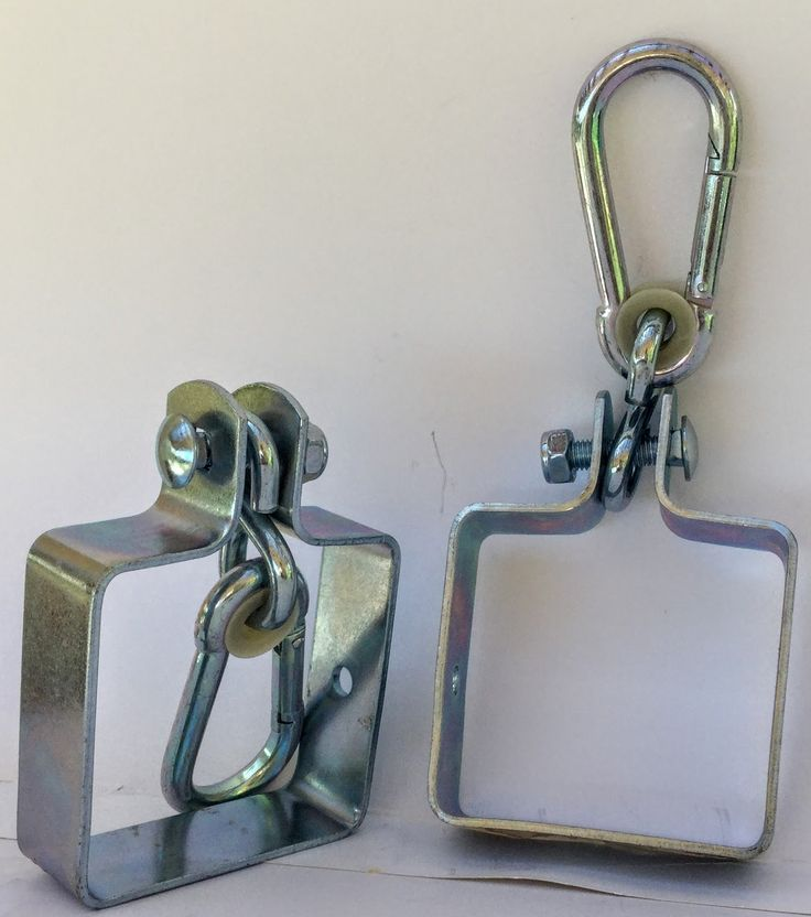 """2 Heavy Duty Iron Swing Hangers for Wooden Sets 