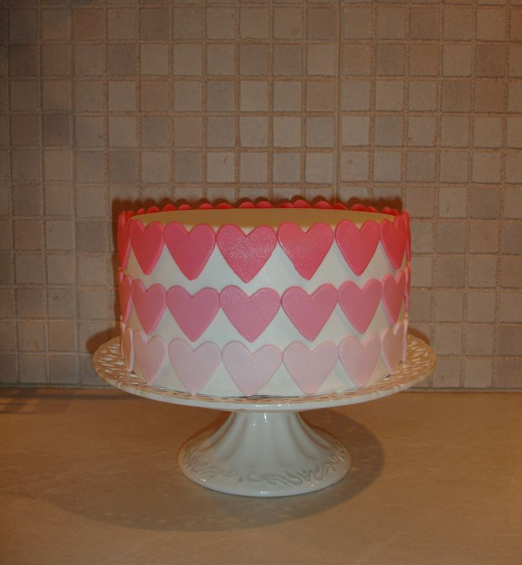 Valentine Cake - easy and cute