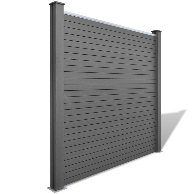 Square WPC Garden Fence Panel Grey