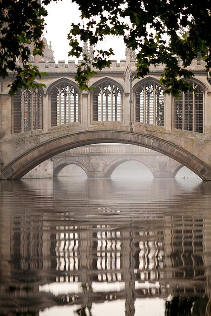 Bridge of Sighs by Cambridge University, via Flickr This bridge looks old and traditional, I love this old fashion