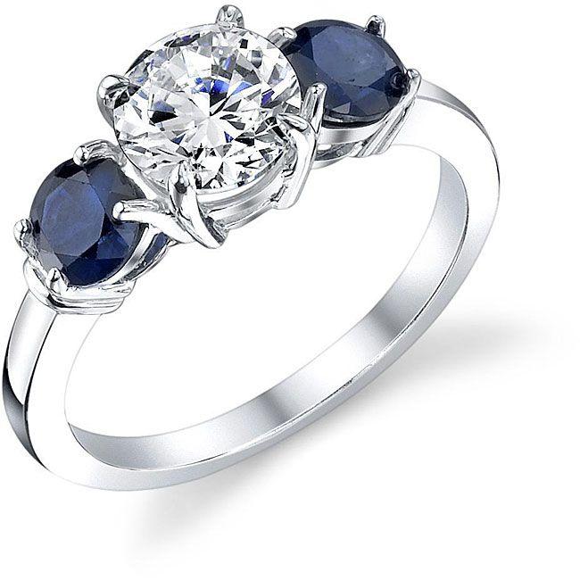 topaz sapphire engagement rings | 14k White Gold S…