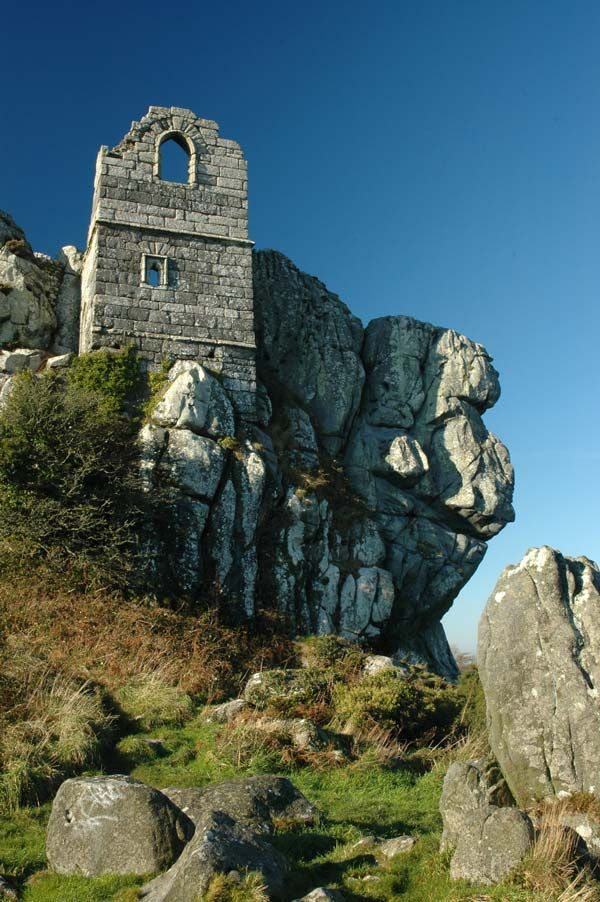 'A ruined hermitage, consecrated in 1409, crowns its craggy skyline, which can be reached by a wooden ladder. Some come here hoping for a glimpse of the rock's famous ghostly inhabitants.' Slow Travel Cornwall www.bradtguides.com