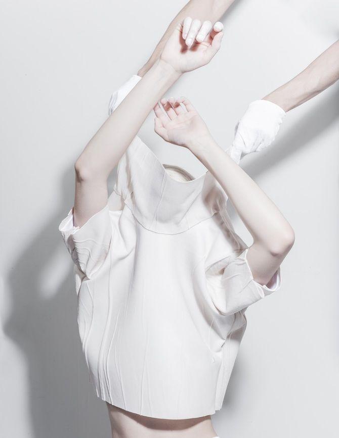 Melitta Baumeister Graduation Collection - Thisispaper Magazine white colour color pale art design photography blanc #white #pale