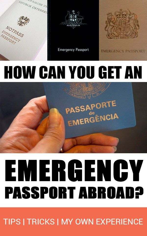 How to get an emergency passport | All details about my own experience applying for a passport abroad