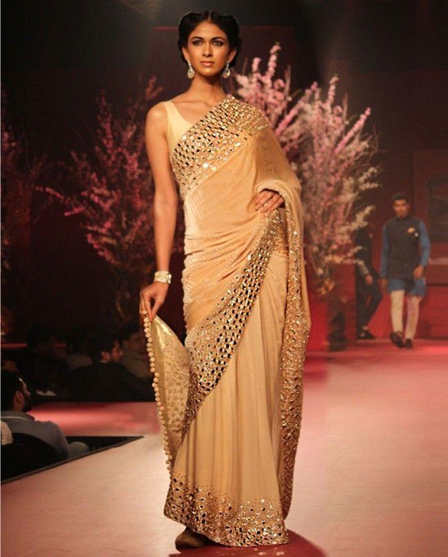 Manish Malhotra Latest Saree Designs Collection 2016-2017   StylesGap.com