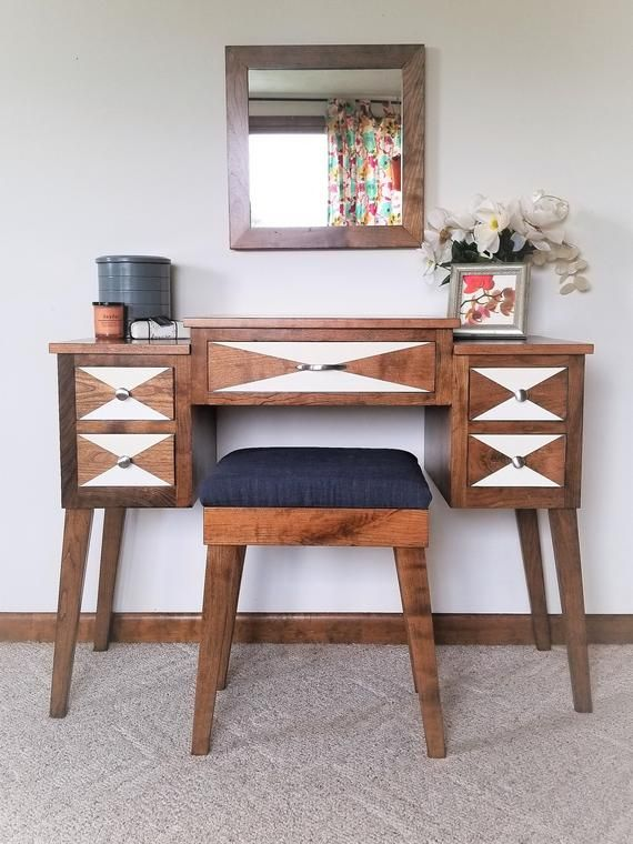 Your Place To Buy And Sell All Things Handmade Mid Century Modern Vanity Mid Century Dressing Table Dressing Table Vanity