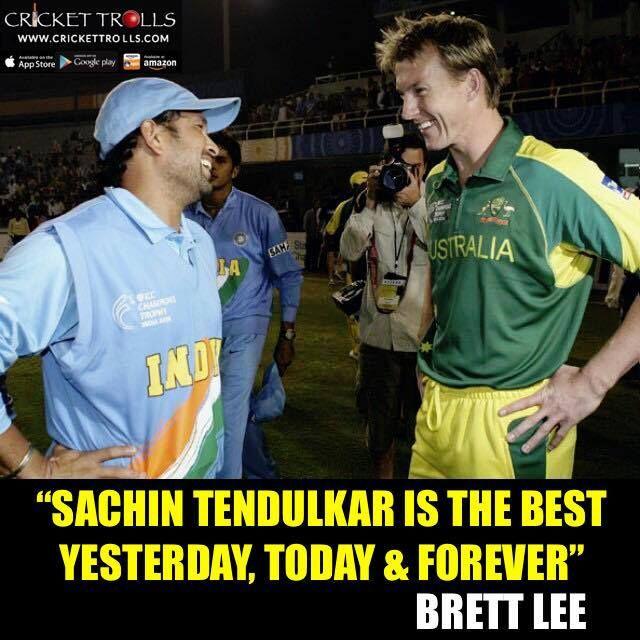 #TeamIndia #SachinTendulkar #BrettLee #Australia  Brett Lee about Master Blaster Sachin Tendulkar - http://ift.tt/1ZZ3e4d
