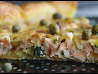 Quiche de salmón y mascarpone