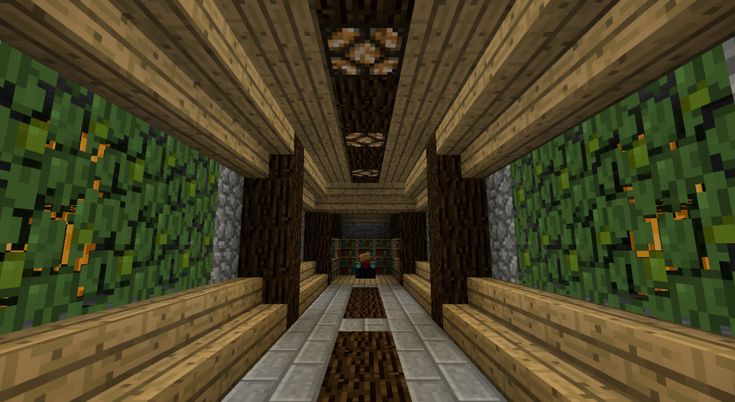 Minecraft Foyer Ideas : Hallway for my treehouse minecraft madness pinterest