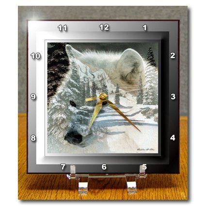 dc_26660_1 SmudgeArt Wildlife Designs - Spirit Of The Wilderness White Wolf - Desk Clocks - 6x6 Desk Clock 3dRose http://www.amazon.com/dp/B005GGHE5M/ref=cm_sw_r_pi_dp_uQQbwb0F2KPDT