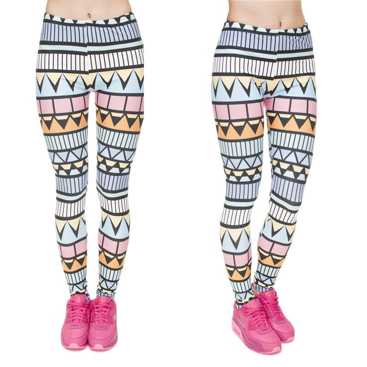 Zohra Brand New Fashion Aztec Printing legins Punk Women's Legging Stretchy Trousers Casual Slim fit Pants Leggings