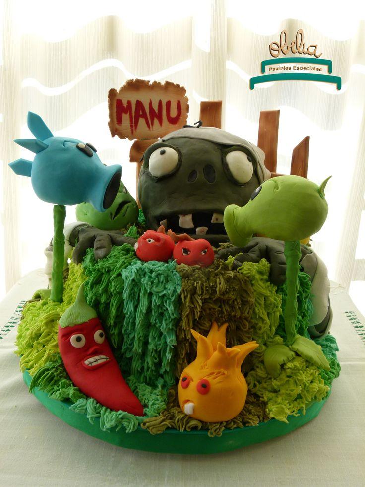 Cupcakes de plantas para defendernos de los zombies!. Cumple de Manu con temática llena de plantas y colores. #obelia #cake #torta #pastel #birthday #cumpleaños #sweet #instacake #pasteleria #laplata #mesadulce #diseñodulce #festejo #sweetdesign #cupcake #cookies #souveniers #popcorn #pochoclos #candybar #celebración #plantasvszombies #juego #plantas #zombies #manuel