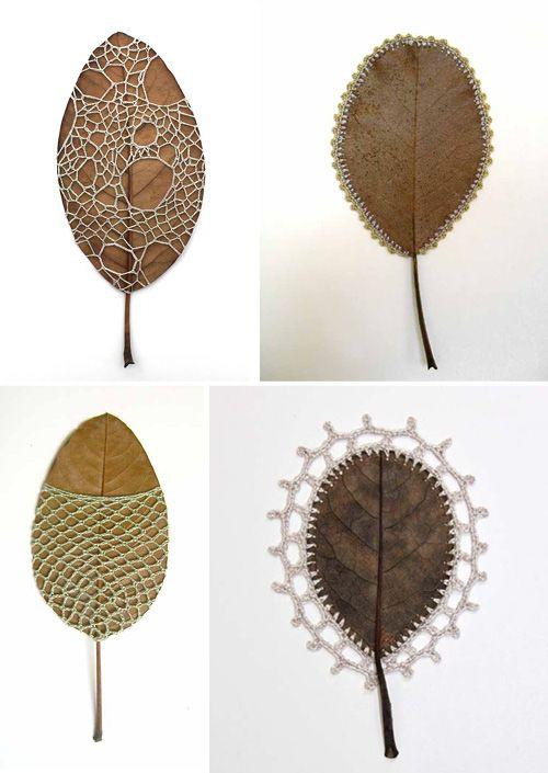 orecchini e gioielli 1129design - ispirazioni e divagazioni: Le affascinanti foglie all'uncinetto di Susanna Bauer