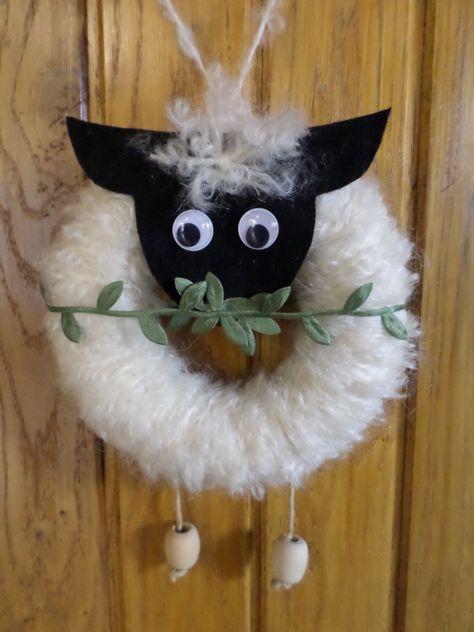 Návod na velikonoční věnec - ovečka 16
