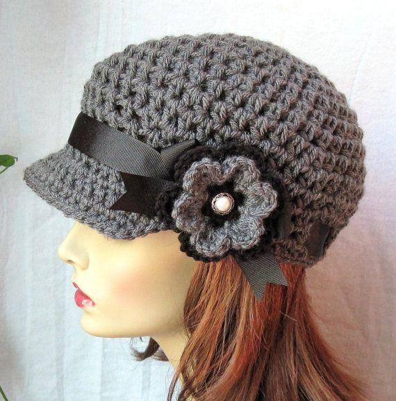 Houtskool grijs tieners Womens hoed van JadeExpressions op Etsy