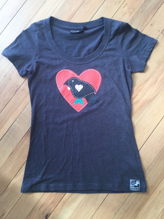 Ladies Tui Love T-Shirt Slate Grey by SonjaHandcraftedTees on Etsy